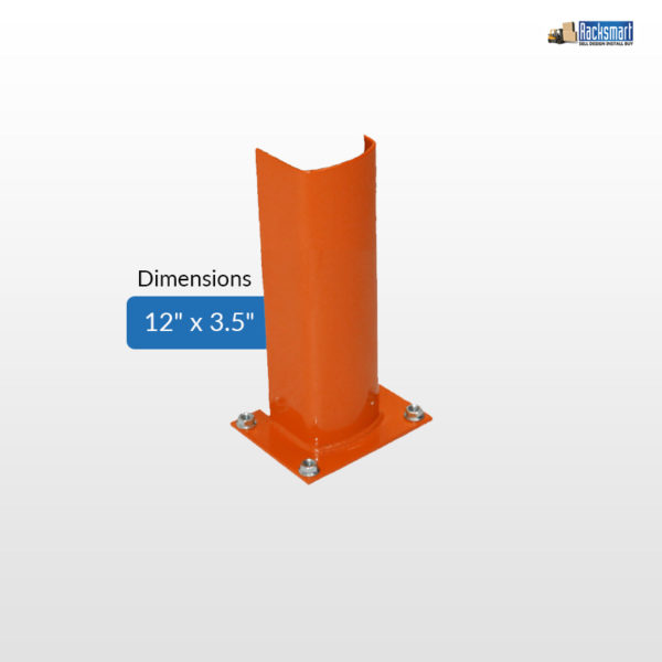new-pallet-rack-accessories-post-protectors-for-warehouse-racking--12x3.5-height-12-inches-width-3.5-inches